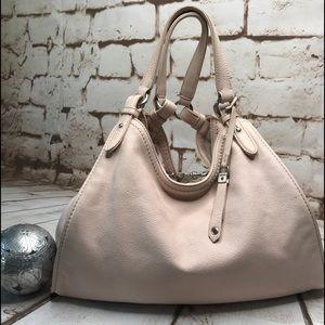 Cole Hann Pebble Leather Shoulder Bag Sz L Lt Pink